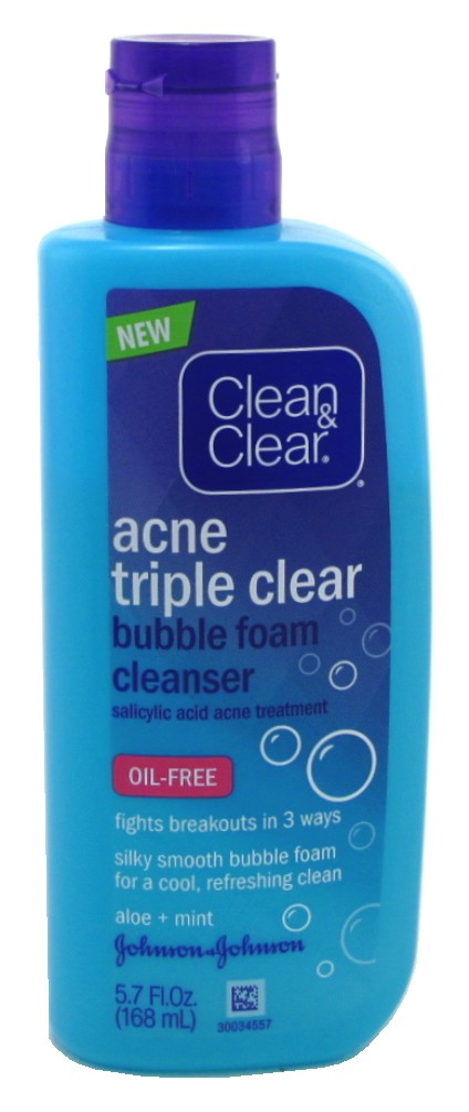 ACNE TRIPLE CLEAR BUBBLE FOAM CLEANSER REVIEW