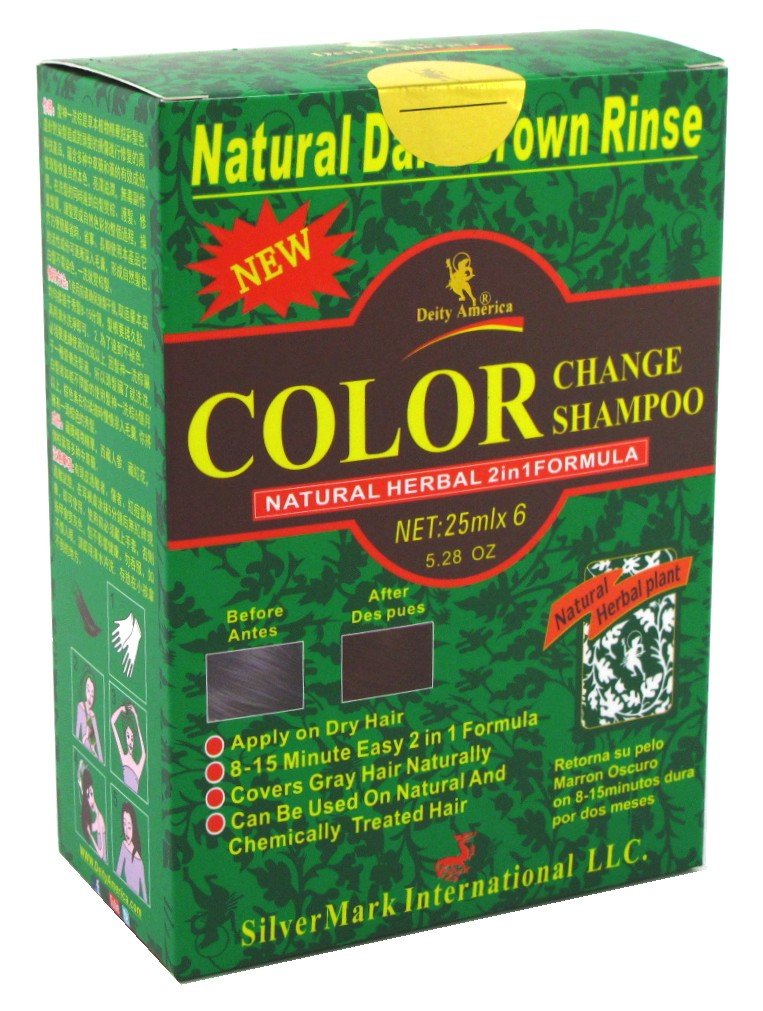 2 Pack DEITY SHAMPOO COLOR CHANGE KIT NATURAL HERBAL 2N1 DK BRWN  EBay